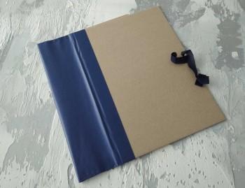 Папка с гребешками, на завязках, формат книжный А4, корешок 10см ПГМк10З