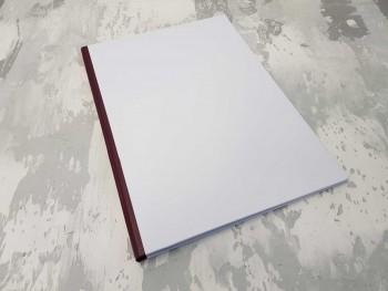 Папка с гребешками, перфорация, книжный А4, оклейка офсетной бум, корешок 1см ПГМОк1П