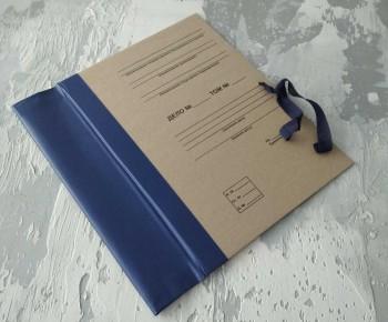 Папка с гребешками, на завязках, с перфорацией и текстом, ф-т А4, корешок 7см ПГМк7ПТЗ