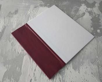 Папка с гребешками, перфорация, книжный А4, оклейка офсетной бум, корешок 8см ПГМОк8П