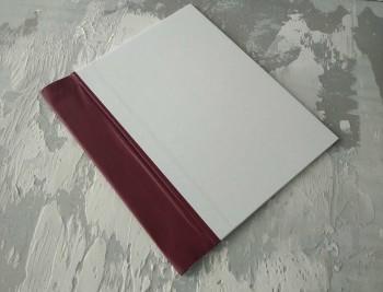Папка с гребешками, перфорация, книжный А4, оклейка офсетной бум, корешок 6см ПГМОк6П