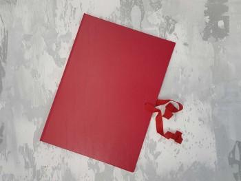 Папка с гребешками, на завязках, ф-т книжный А4, оклейка бумвинилом, корешок 1см ПГМБк1З