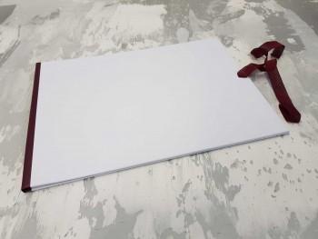 Папка с гребешками, завязки и перфорация, А4, оклейка офсетной бум, корешок 1см ПГМОа1ПЗ