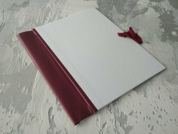 Папка с гребешками, на завязках, ф-т книжный А4, оклейка офсетной бум, корешок 6см ПГМОк6З