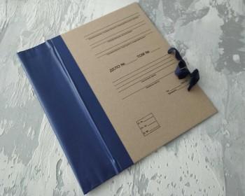 Папка с гребешками, на завязках, с текстом, формат книжный А4, корешок 8см ПГМк8ТЗ