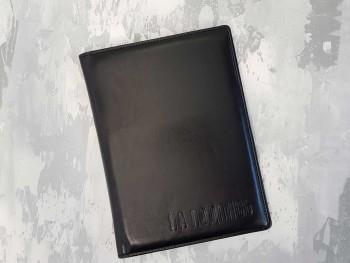 Папка из кожи для документов на подпись, черная ПНК46330