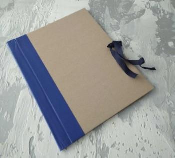 Папка с гребешками, на завязках, формат книжный А4, корешок 5см ПГМк5З