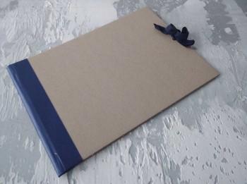Папка с гребешками, на завязках, формат альбомный А4, корешок 3см ПГМа3З