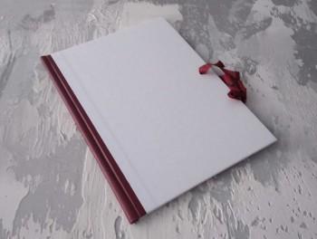 Папка с гребешками, завязки и перфорация, А4, оклейка офсетной бум, корешок 2см ПГМОк2ПЗ