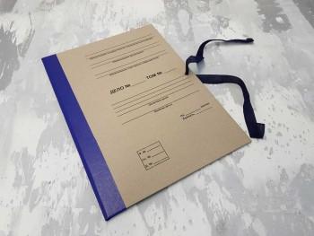 Папка с гребешками, на завязках, с текстом, формат книжный А4, корешок 1см ПГМк1ТЗ