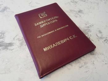 Папка из кожи Заместитель директора по экономике и финансам ПН47354243