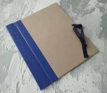 Папка с гребешками, на завязках, формат книжный А4, корешок 6см ПГМк6З