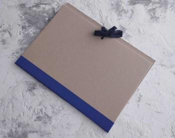 Папка с гребешками, на завязках, формат книжный А4, корешок 2см ПГМк2З