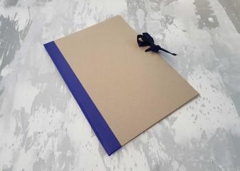 Папка с гребешками, на завязках, формат книжный А4, корешок 1см ПГМк1З