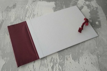 Папка с гребешками, завязки, ф-т альбомный А4, оклейка офсетной бум, корешок 10см ПГМОа10З