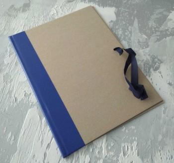 Папка с гребешками, на завязках, формат книжный А4, корешок 3см ПГМк3З