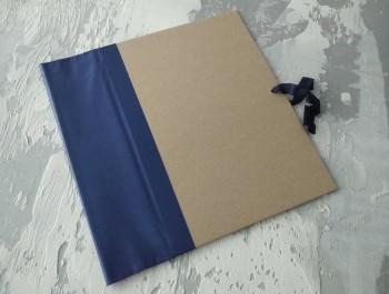 Папка с гребешками, на завязках, формат книжный А4, корешок 8см ПГМк8З