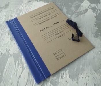 Папка с гребешками, на завязках, с текстом, формат книжный А4, корешок 5см ПГМк5ТЗ