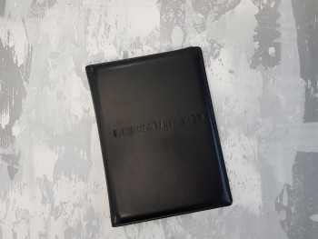 Папка из кожи на подпись Главному инженеру, черная ПНК46380