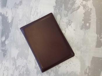 Папка на подпись из кожи коричневая ПН452К