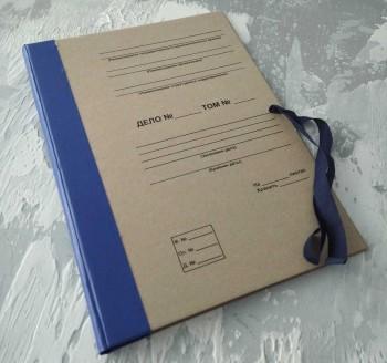 Папка с гребешками, на завязках, с текстом, формат книжный А4, корешок 4см ПГМк4ТЗ