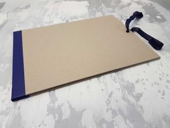 Папка с гребешками, на завязках, формат альбомный А4, корешок 1см ПГМа1З