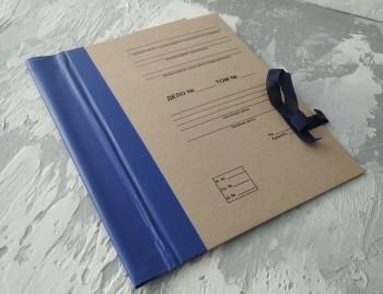 Папка с гребешками, на завязках, с перфорацией и текстом, ф-т А4, корешок 6см ПГМк6ПТЗ