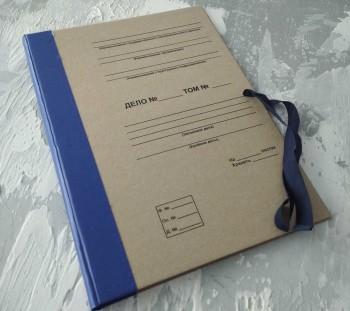 Папка с гребешками, на завязках, с перфорацией и текстом, ф-т А4, корешок 4см ПГМк4ПТЗ