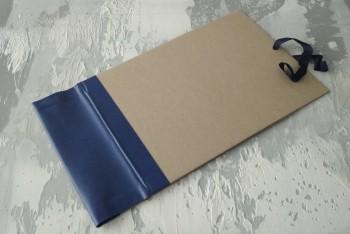 Папка с гребешками, на завязках, формат альбомный А4, корешок 10см ПГМа10З