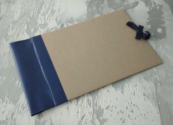 Папка с гребешками, на завязках, формат альбомный А4, корешок 8см ПГМа8З