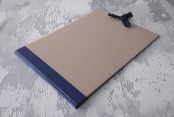 Папка с гребешками, на завязках, формат альбомный А4, корешок 2см ПГМа2З