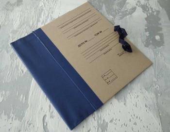 Папка с гребешками, на завязках, с текстом, формат книжный А4, корешок 9см ПГМк9ТЗ