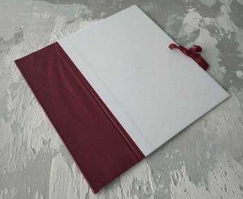 Папка с гребешками, на завязках, книжный А4, оклейка офсетной бум, корешок 10см ПГМОк10З