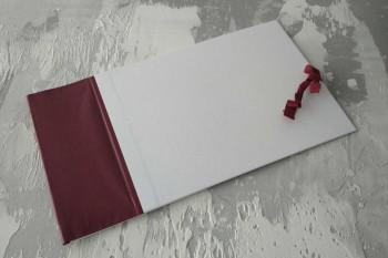 Папка с гребешками, завязки и перфорация, А4, оклейка офсетной бум, корешок 10см ПГМОа10ПЗ