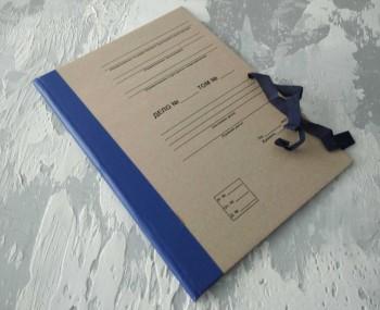 Папка с гребешками, на завязках, с перфорацией и текстом, ф-т А4, корешок 2см ПГМк2ПТЗ